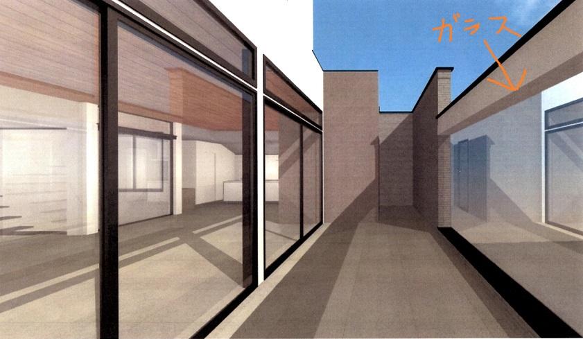 減額シリーズ2 バルコニーのガラス壁(CG画像)