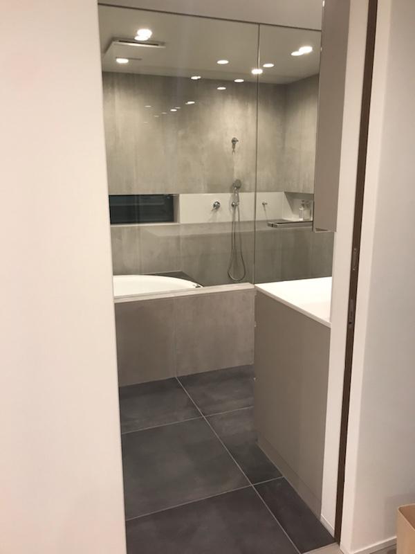 web内覧会 (1) 在来バスルーム浴室&パウダールーム洗面室