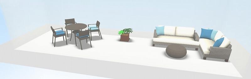 a-flat 3D simulation balcony